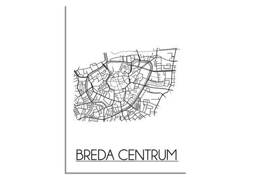 DesignClaud Breda Centrum Plattegrond poster