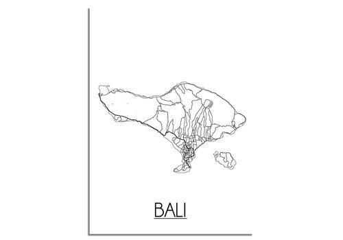 DesignClaud Bali Plattegrond poster