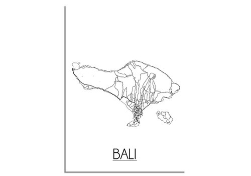 DesignClaud Bali Stadtplan-poster
