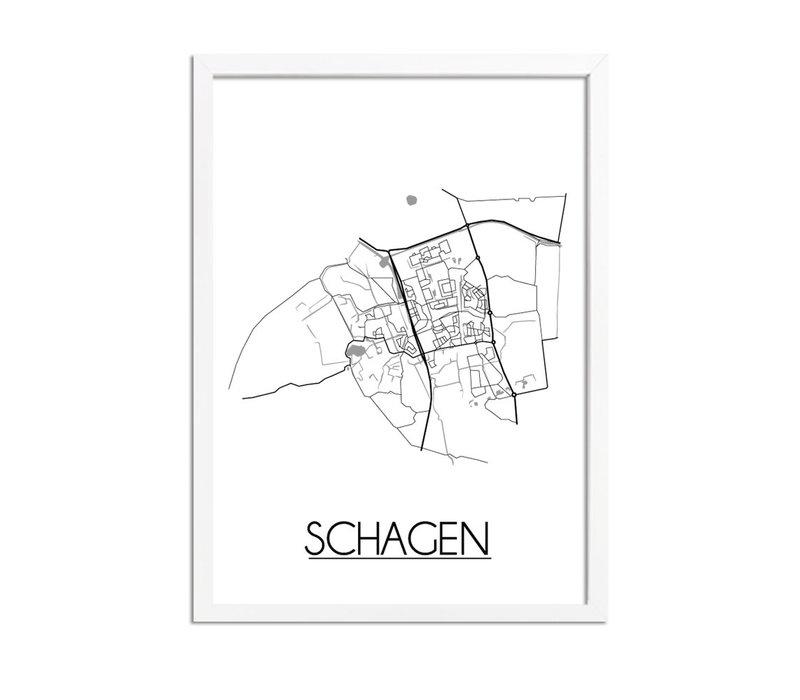 Schagen Plattegrond poster