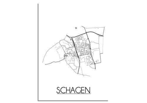 DesignClaud Schagen Plattegrond poster
