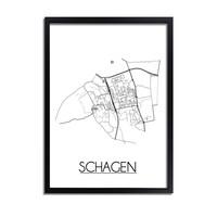 Schagen Stadtplan-poster