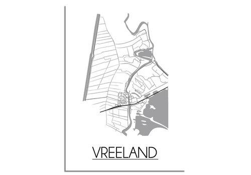 DesignClaud Vreeland Plattegrond poster
