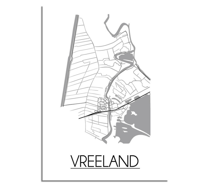 Vreeland Stadtplan-poster