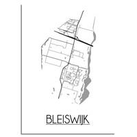 Bleijswijk Stadtplan-poster
