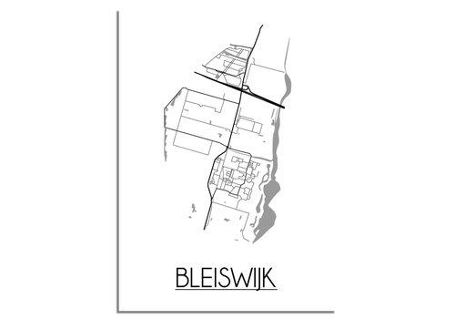 DesignClaud Bleijswijk Plattegrond poster