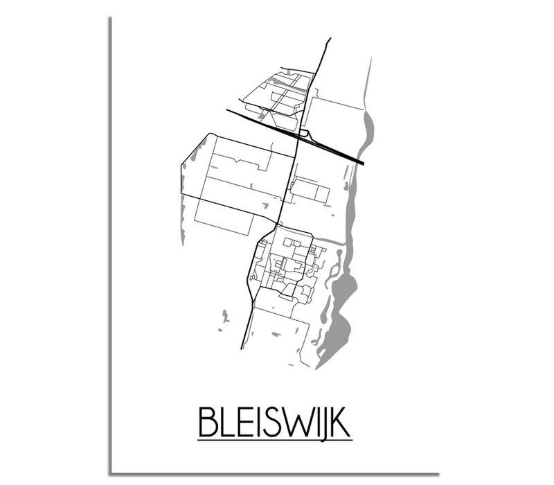 Bleijswijk Plattegrond poster
