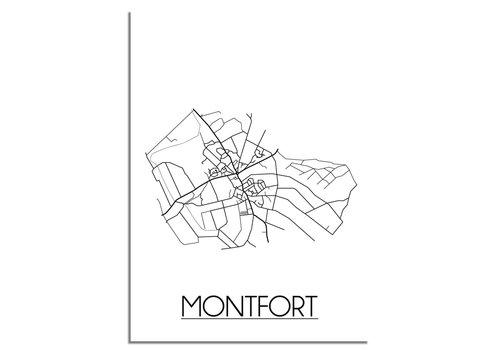 DesignClaud Montfort Plattegrond poster
