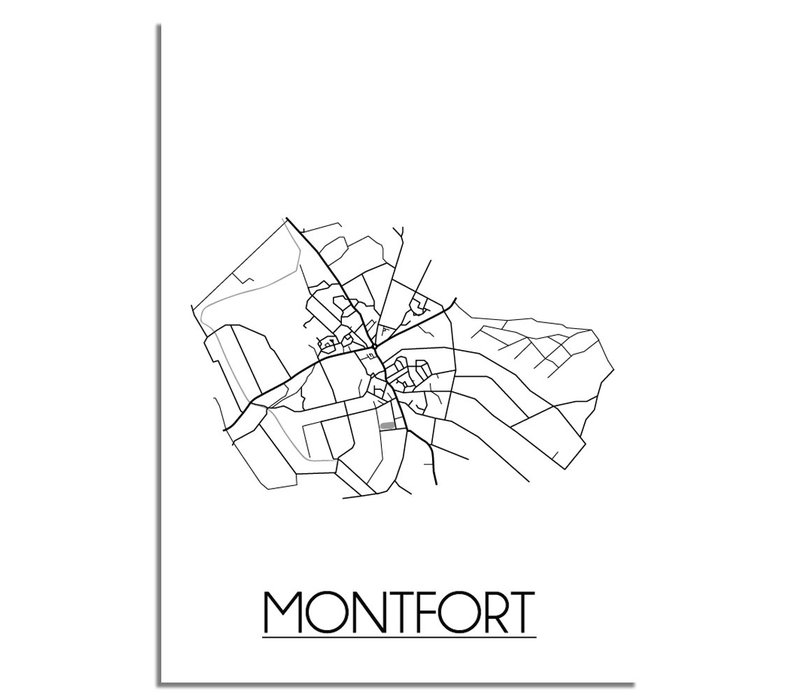 Montfort Plattegrond poster