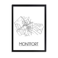 Montfort Stadtplan-poster