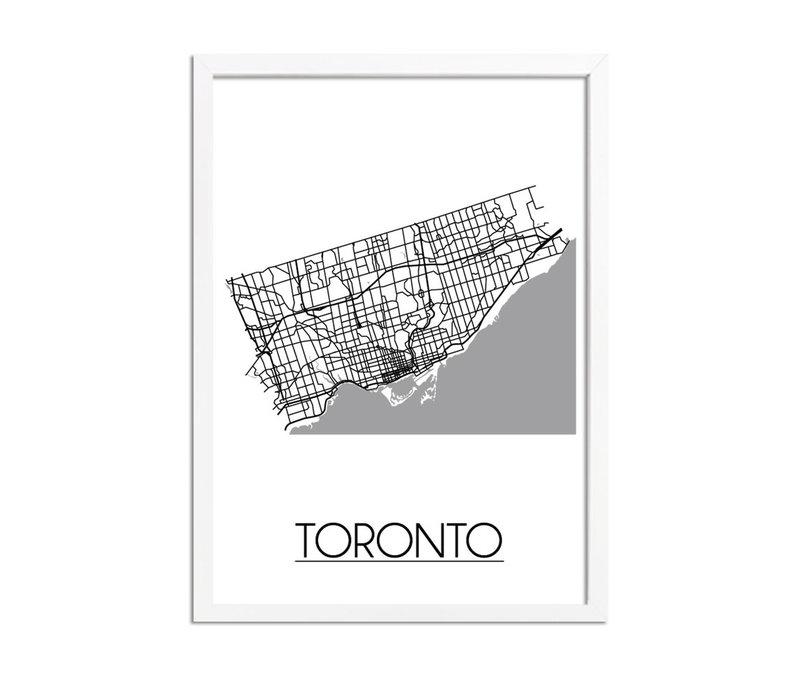 Toronto Plattegrond poster