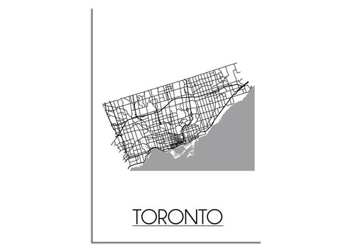 DesignClaud Toronto Plattegrond poster