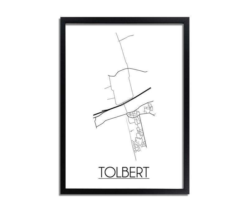 Tolbert Stadtplan-poster