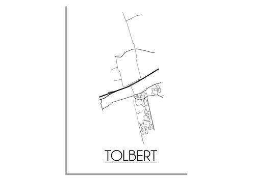 DesignClaud Tolbert Plattegrond poster