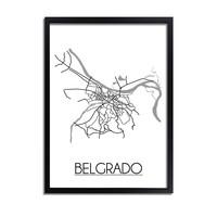 Belgrado Plattegrond poster