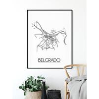 Belgrado Stadtplan-poster