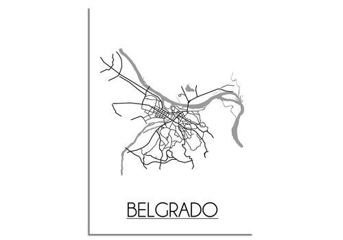 DesignClaud Belgrado Plattegrond poster
