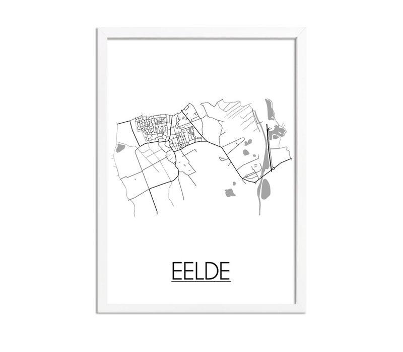 Eelde Stadtplan-poster
