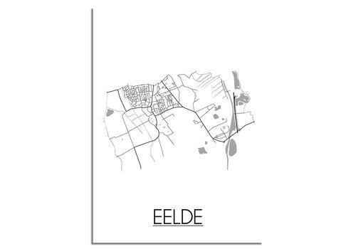 DesignClaud Eelde Plattegrond poster
