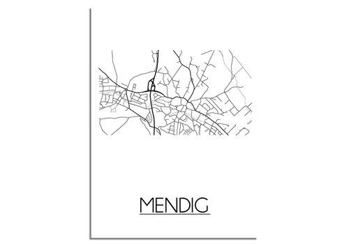 DesignClaud Mendig Plattegrond poster