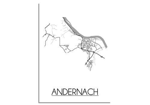 DesignClaud Andernach Stadtplan-poster