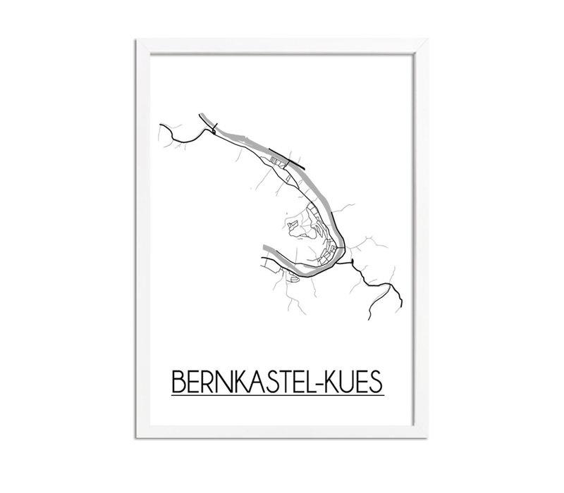 Bernkastel-Kues Stadtplan-poster