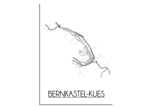 DesignClaud Bernkastel-Kues Stadtplan-poster