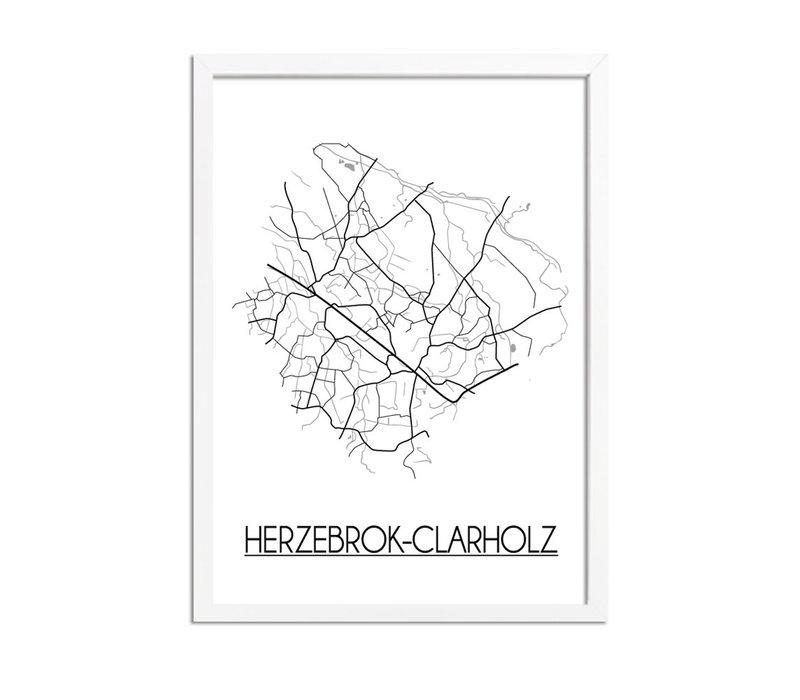 Herzebrock-Clarholz Stadtplan-poster