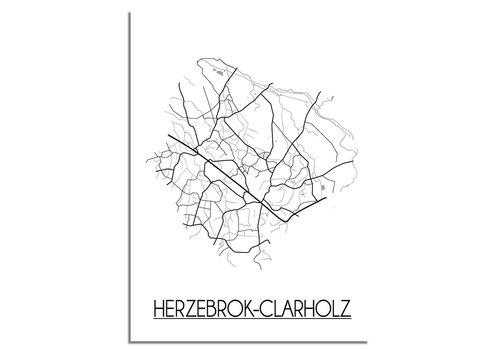 DesignClaud Herzebrock-Clarholz Plattegrond poster