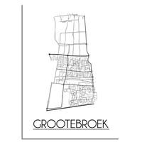 Grootebroek Stadtplan-poster