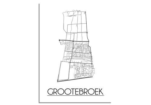 DesignClaud Grootebroek Plattegrond poster