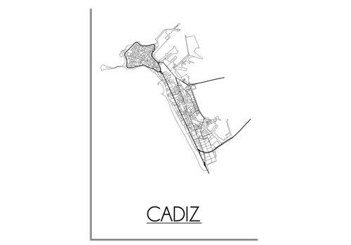 DesignClaud Cadiz Plattegrond poster