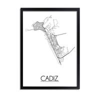 Cadiz Plattegrond poster
