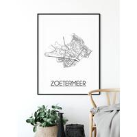 Zoetermeer Plattegrond poster