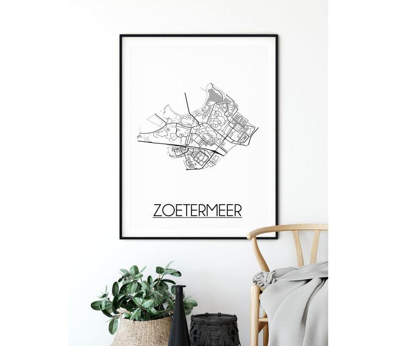 Zoetermeer Stadtplan-poster