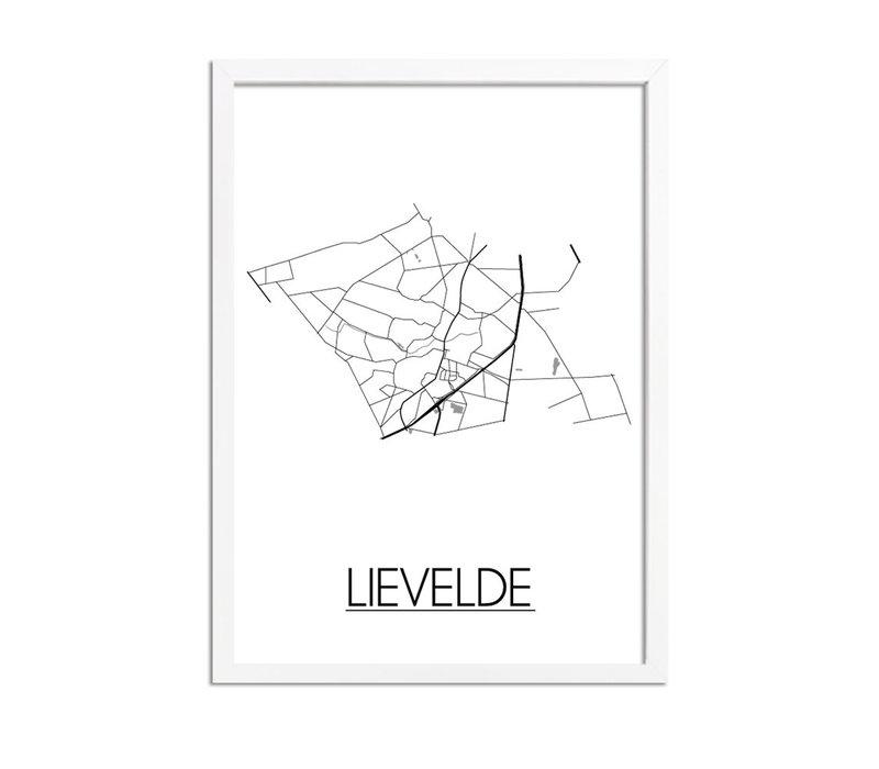 Lievelde Plattegrond poster