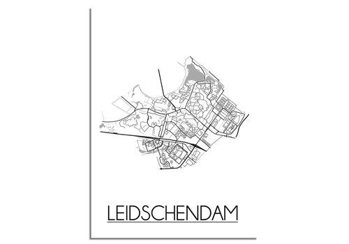 DesignClaud Leidschendam Plattegrond poster