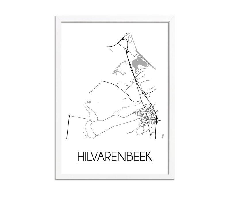 Hilvarenbeek Plattegrond poster