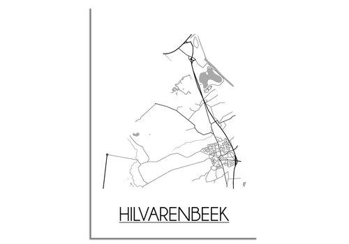 DesignClaud Hilvarenbeek Plattegrond poster
