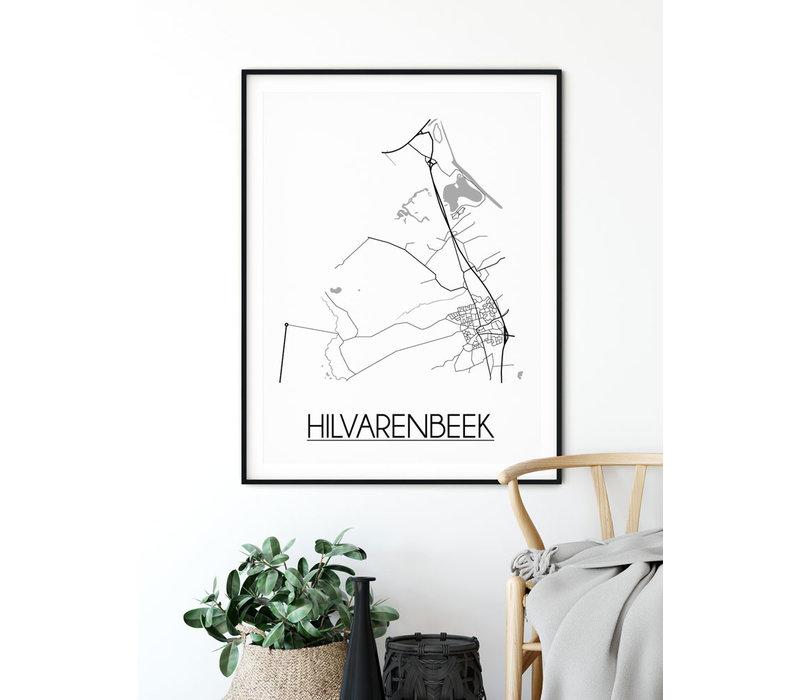 Hilvarenbeek Stadtplan-poster