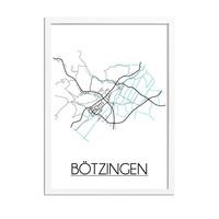 Bötzingen Plattegrond poster