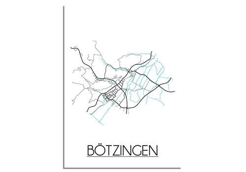 DesignClaud Bötzingen Stadtplan-poster