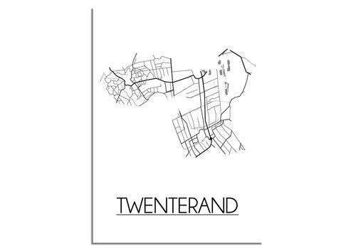 DesignClaud Twenterand Plattegrond poster