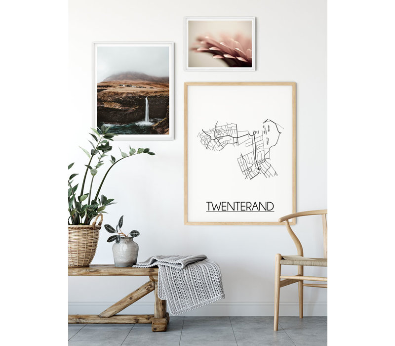 Twenterand Stadtplan-poster