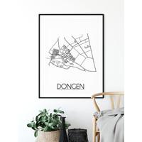 Dongen Plattegrond poster