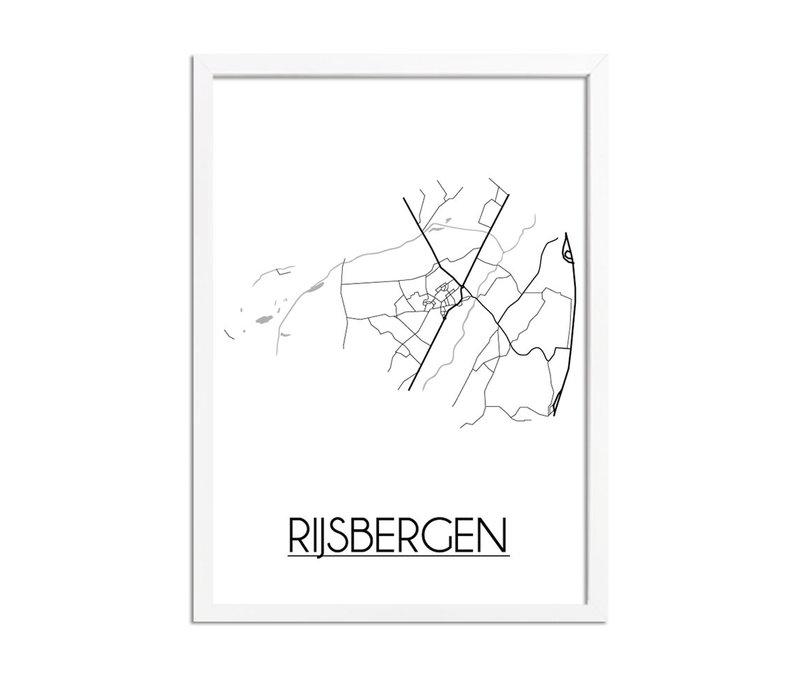 Rijsbergen Stadtplan-poster