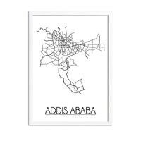 Addis Ababa Plattegrond poster