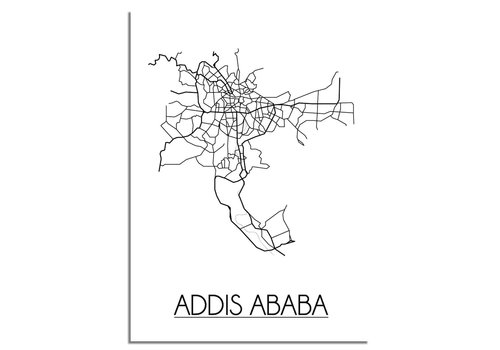 DesignClaud Addis Ababa Plattegrond poster