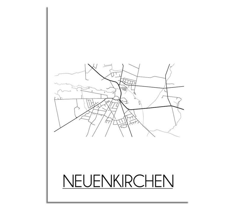 Neuenkirchen Stadtplan-poster