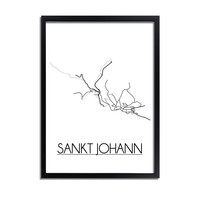 Sankt Johann Plattegrond poster